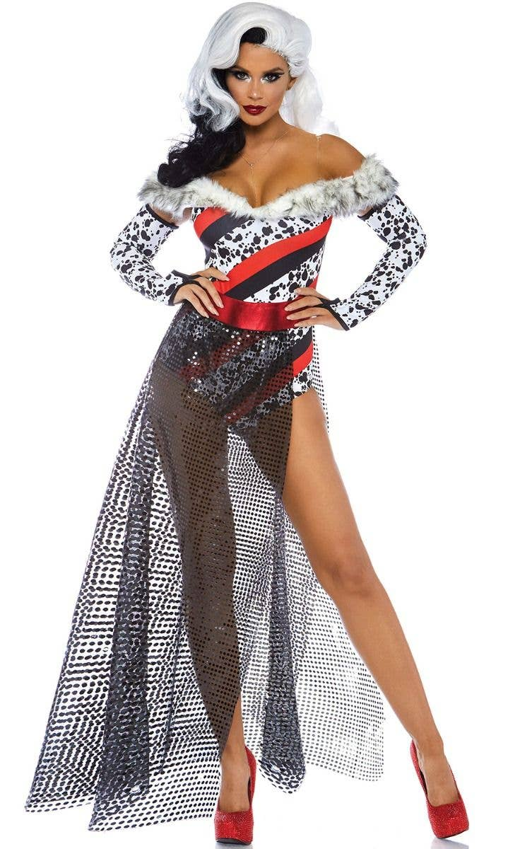 82eac3a809e Dalmatian Dame Women's Sexy Cruella Costume