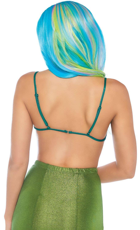 cfc3a7e7e5f61 Women s Teal Shell Bra Mermaid Costume Top Back View