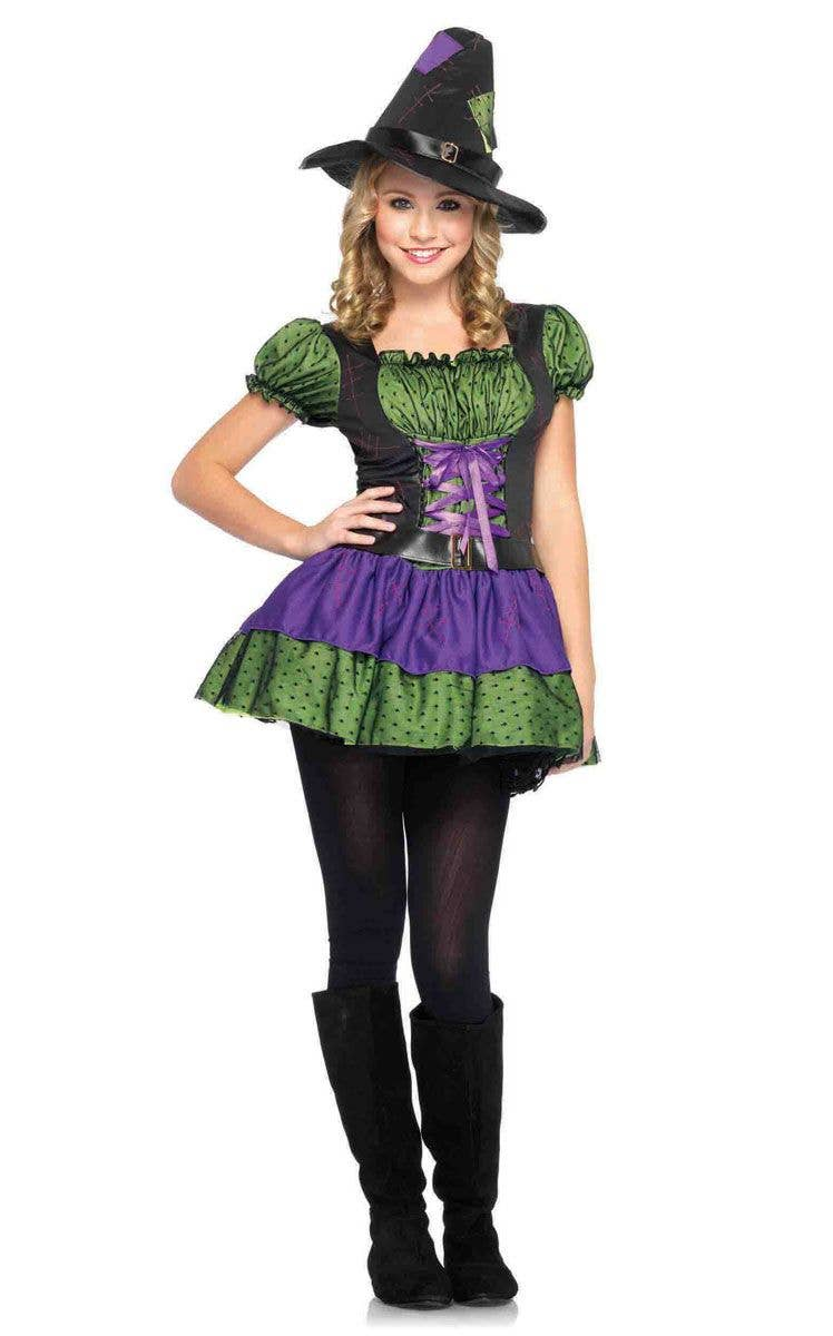 teen girls green witch costume | hocus pocus witch halloween costume