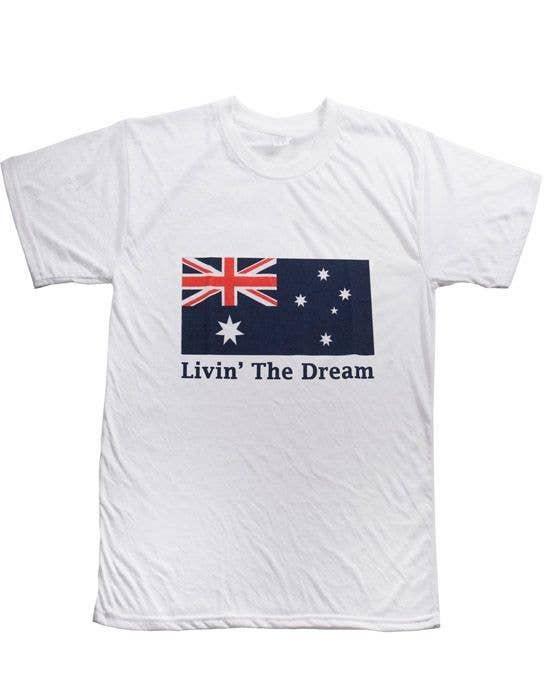 512d966656 Livin' The Dream Australia Day T-Shirt   Australia Day Products
