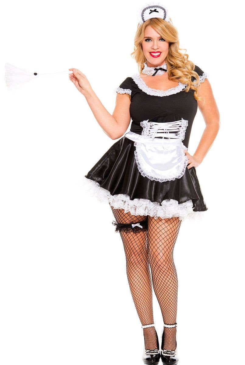 156ffaba5 Plus Size Women s Sexy French Maid Costume Main Image