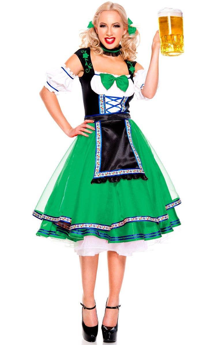 8c4f7f442094 German Dirndl Women's Costume | Deluxe Beer Girl Oktoberfest Costume