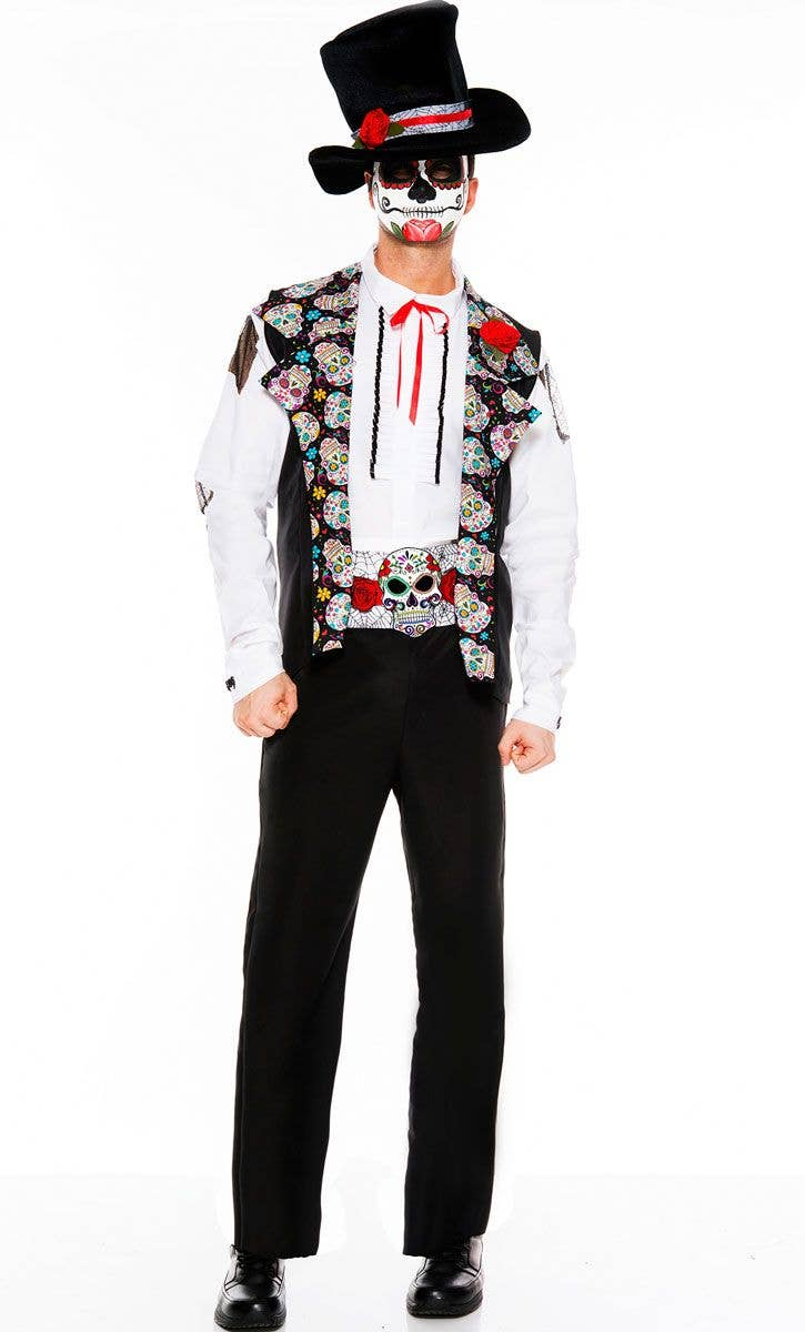 Men's Keeper Of Spirits Costume | Day of The Dead Men's ...