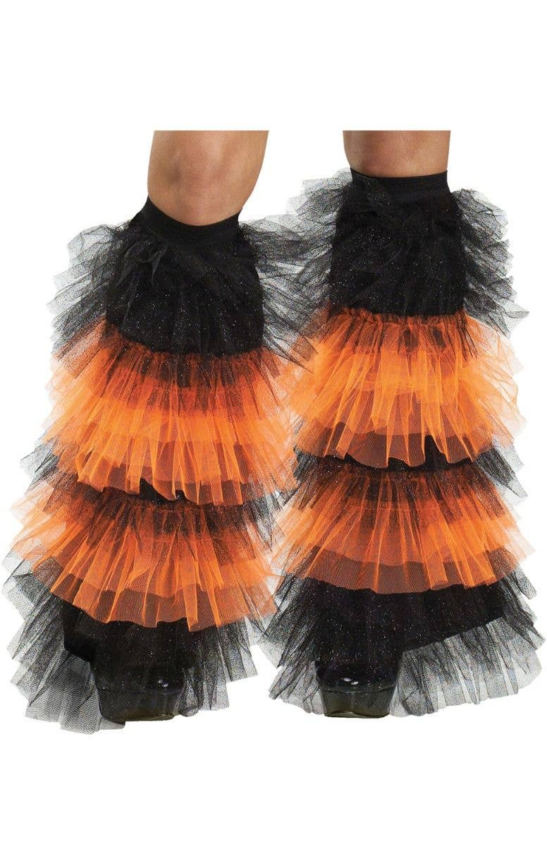 4e46be660e Glitter Orange and Black Boot Covers Costume Accessory - Main Image