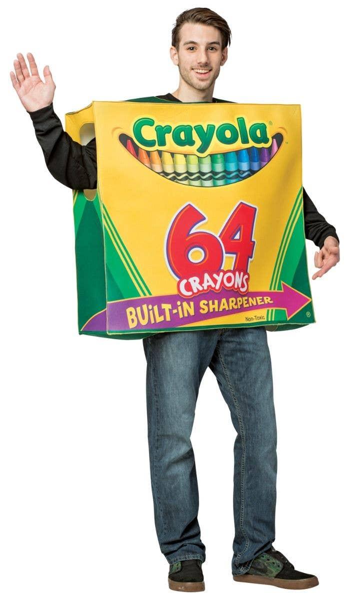 ac6b1ca04b3 Crayons Costume | Crayola Box of Crayons Adult Fancy Dress Costume