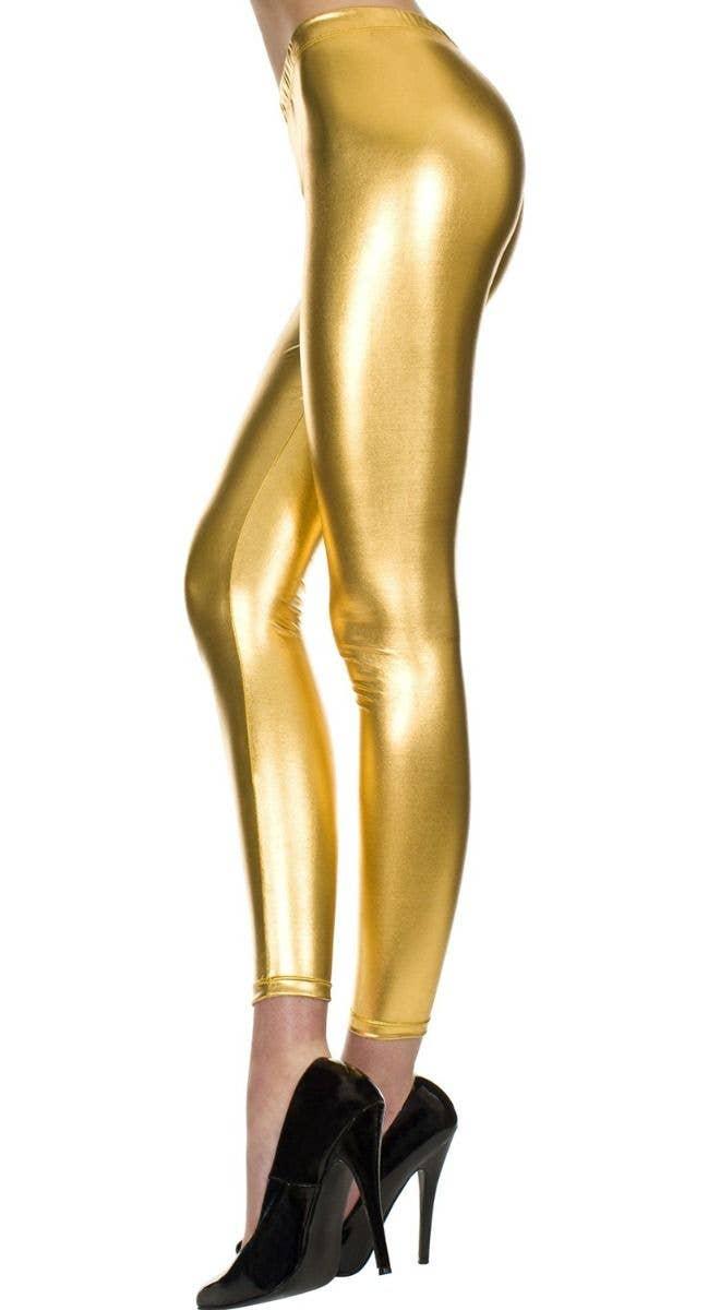 59a0974e36a65 Metallic gold full length leggings shiny gold womens tights jpg 649x1200 Shiny  gold tights for women