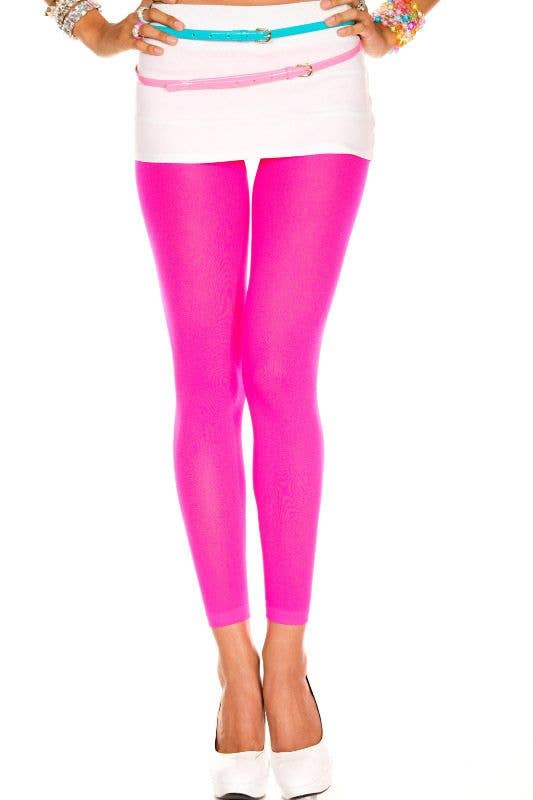 Neon Pink Tights Footless Bright Pink Women S Stockings