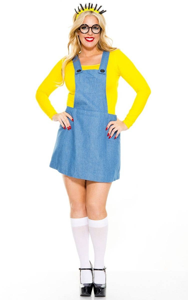 9e6045b1ae01a Yellow Minion Women s Plus Size Fancy Dress Costume Front