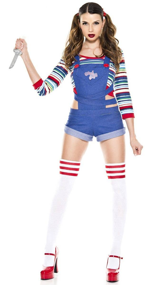 Sexy Good Guy Chucky Doll Women s Halloween Costume Front c80077692