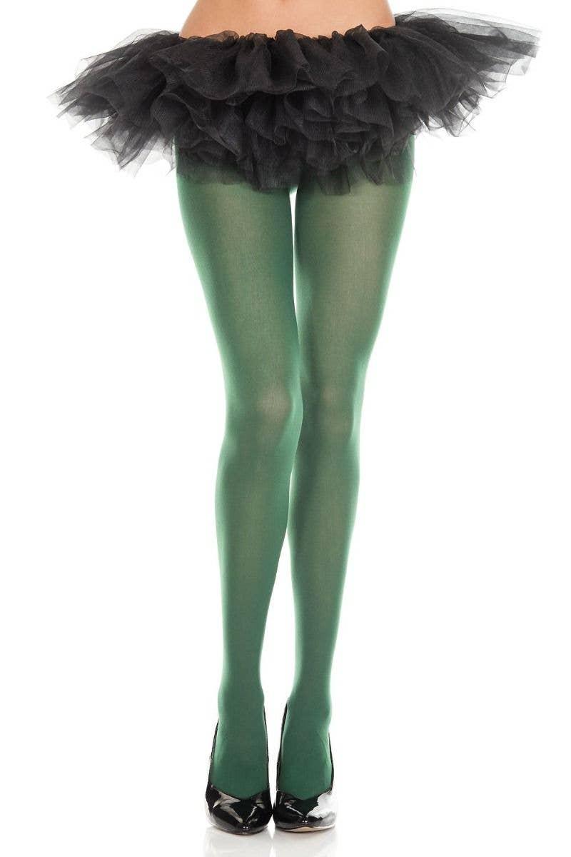 57d4a7d4ba369 Opaque Green Women's Pantyhose   Full Length Green Opaque Tights