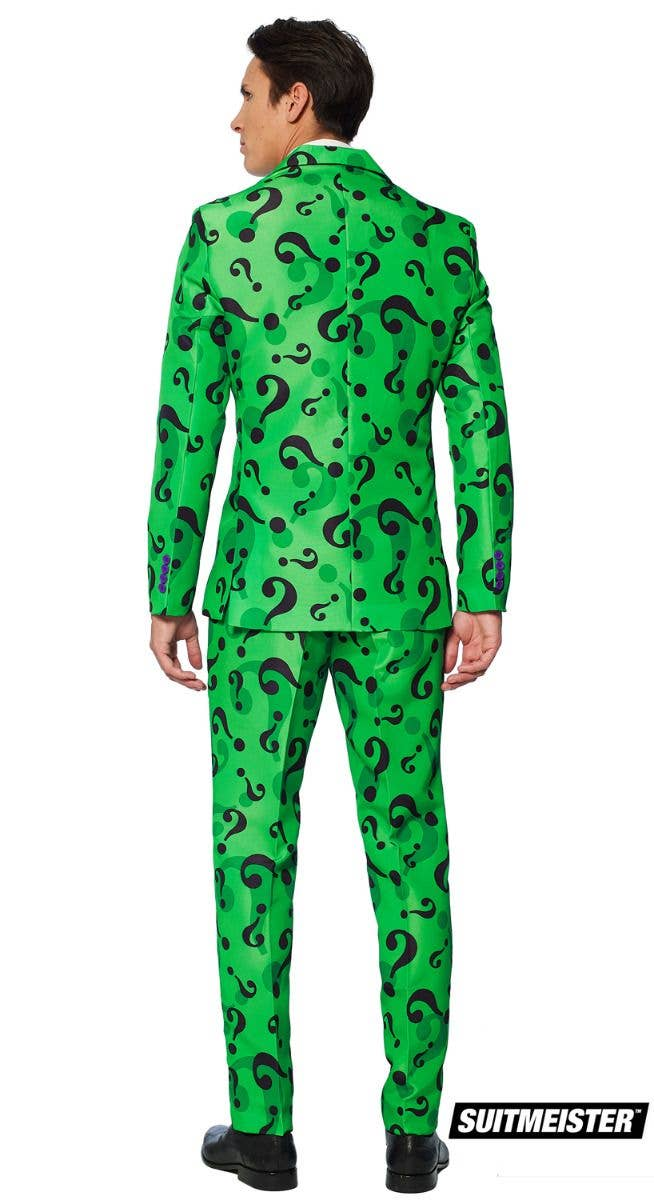 3292eb75e42a9e Men's The Riddler Suit Fancy Dress Suitmeister Costume Back Image