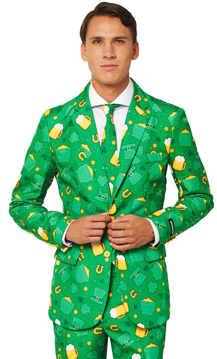 5588d1799 Green St Patrick's Day Icons Suit Men's Costume | St Patrick's Day ...
