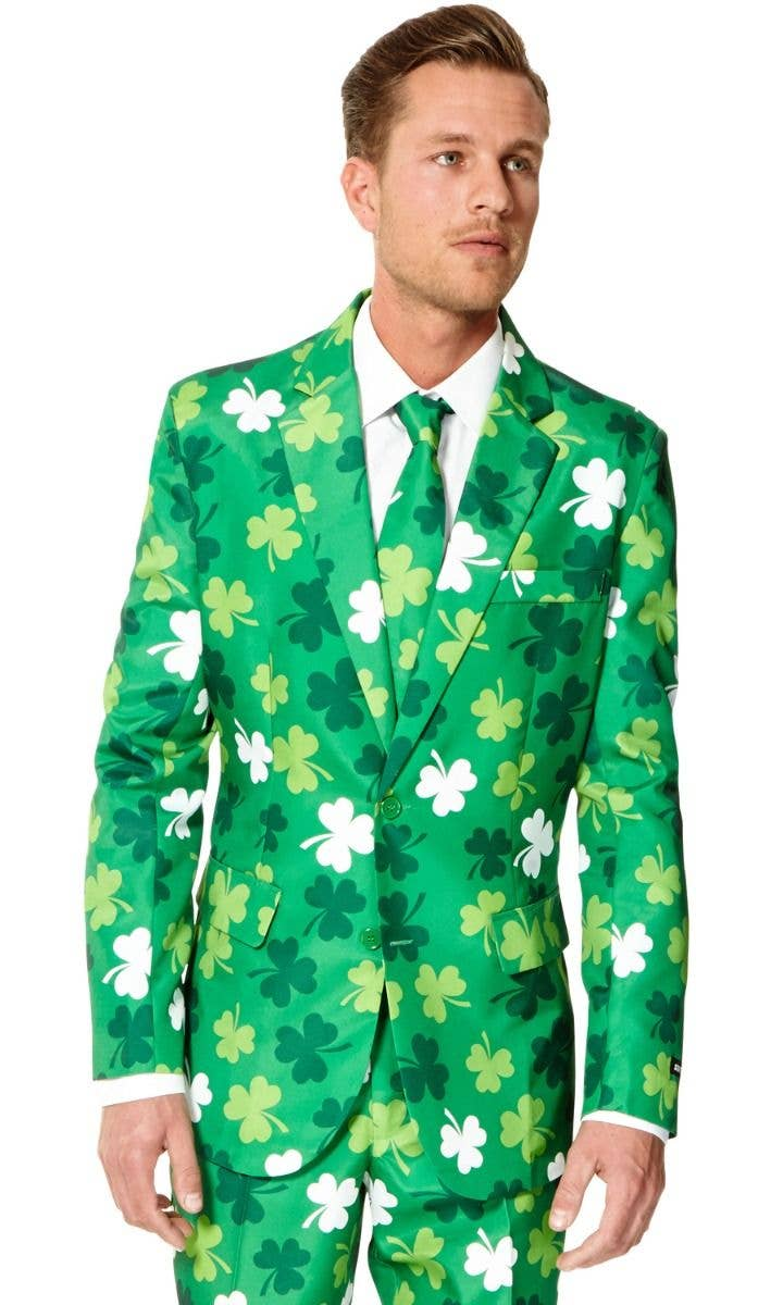 07035b576 Green St Patrick's Day Suit Men's Costume | St Patrick's Day Clovers ...
