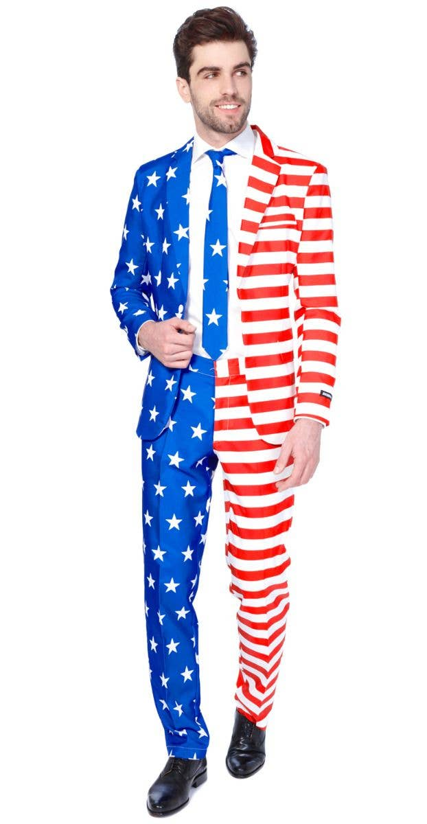 6bc8ff9a3378 USA Flag Suit Men's Costume | Red white and blue Suitmeister Suit