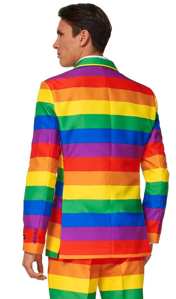 cc9be1a7dcf6 Men s Rainbow Flag Pride LGBT Suitmeister Suit Back Zoom Image