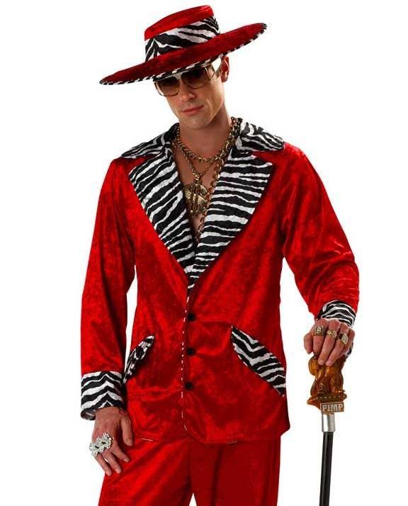 More Views of Men s Red Pimp Costume 9b3beda479e5