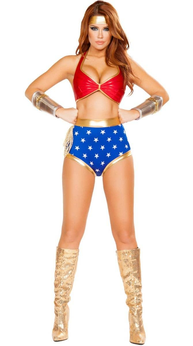 d7731927257 Mighty Comic Hero Wonder Woman Sexy Costume