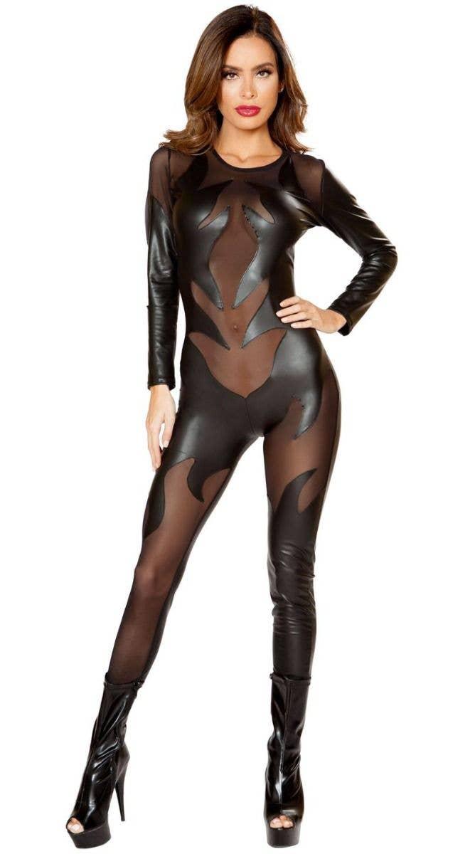 Black Evil Devil Sexy Women\u0027s Halloween Costume