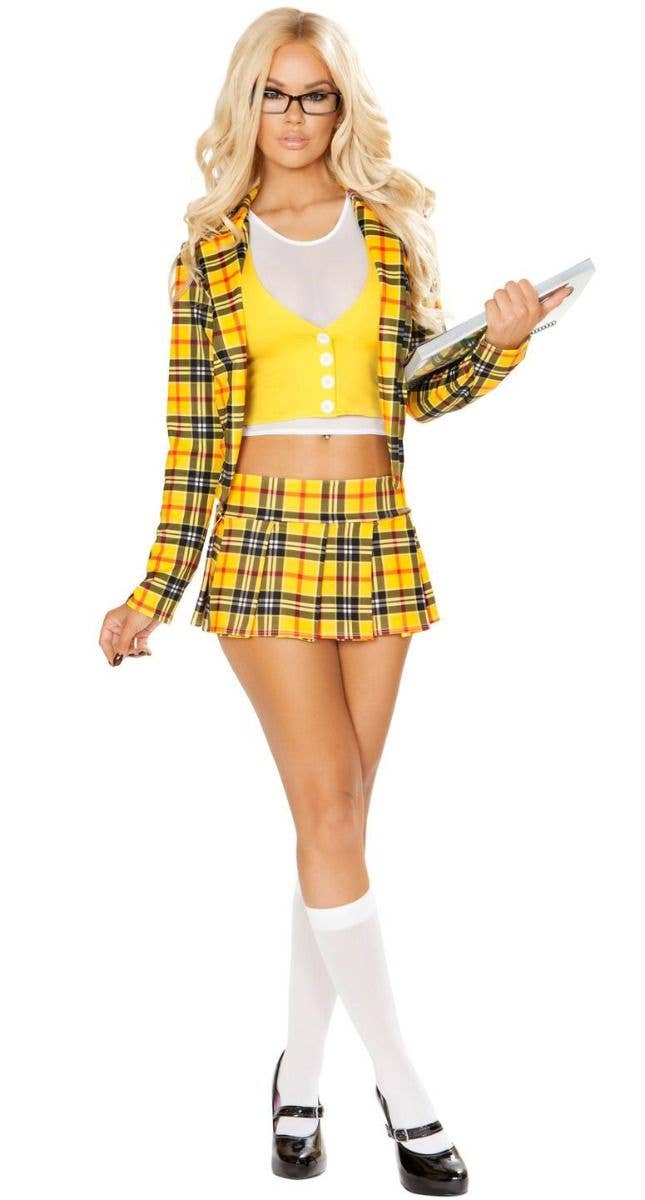 06433d6ee Clueless School Girl Without a Clue Cher Yellow Women's 90s Costume Main  Image