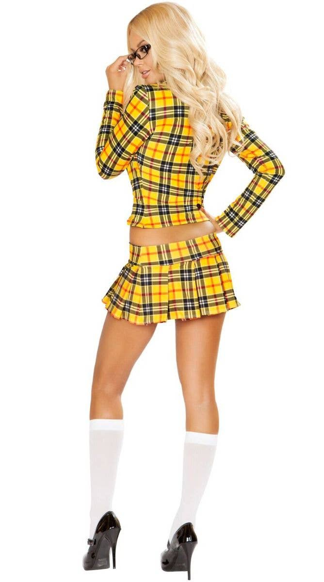 7e151e518b Clueless School Girl Without a Clue Cher Yellow Women's 90s Costume Back  Image
