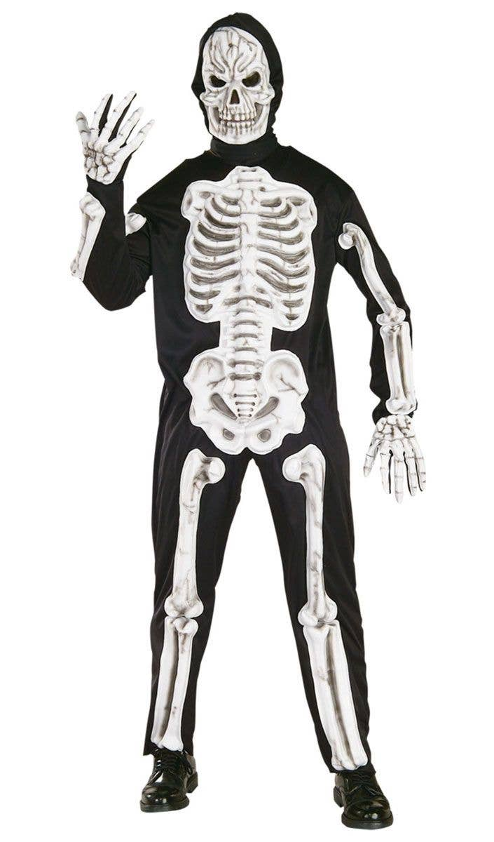 skeleton halloween costume | men's skeleton suit fancy dress costume