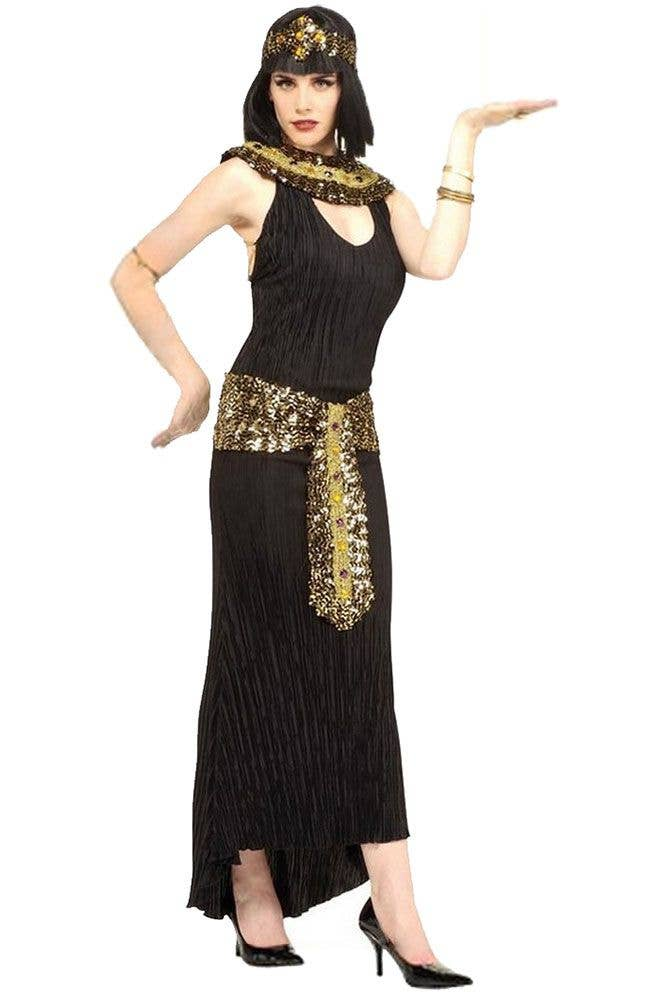 Queen Cleopatra Womenu0027s Egyptian Costume Main Image  sc 1 st  Heaven Costumes & Womenu0027s Cleopatra Fancy Dress Costume | Deluxe Cleopatra Costumes