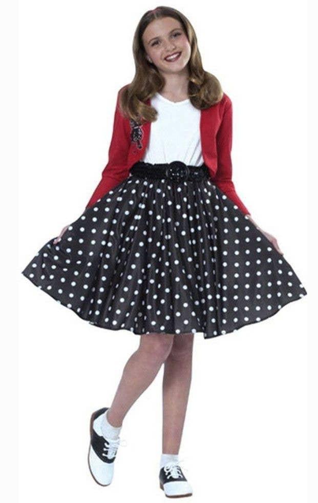 1950 S Polka Dot Rocker Girls Costume 50 S Fancy Dress