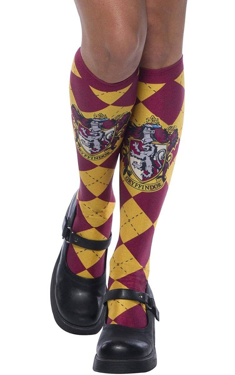 47bc4296f6b Girl s And Teen Girl s Harry Potter Gryffindor Knee High Socks Costume  Accessory Main Image 1