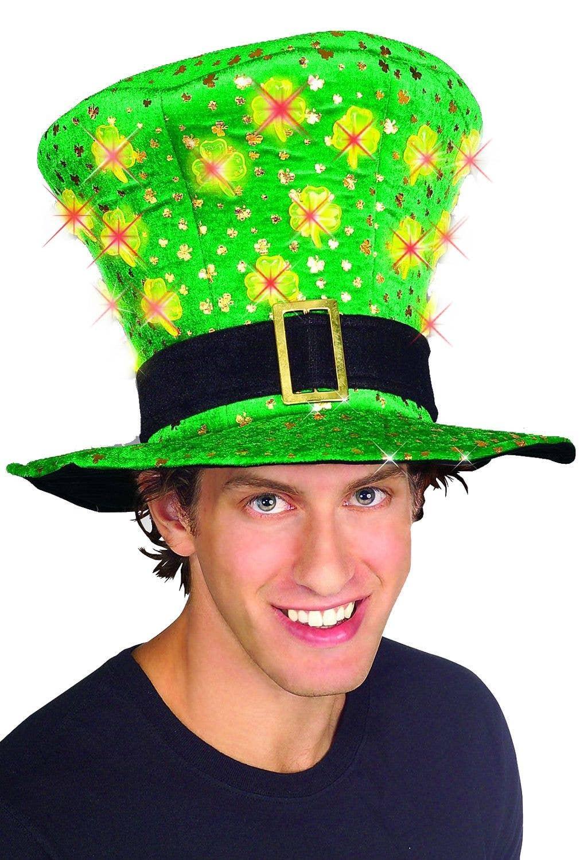 a1b5f0af7f407 Light Up St Patrick s Day Novelty Plush Hat