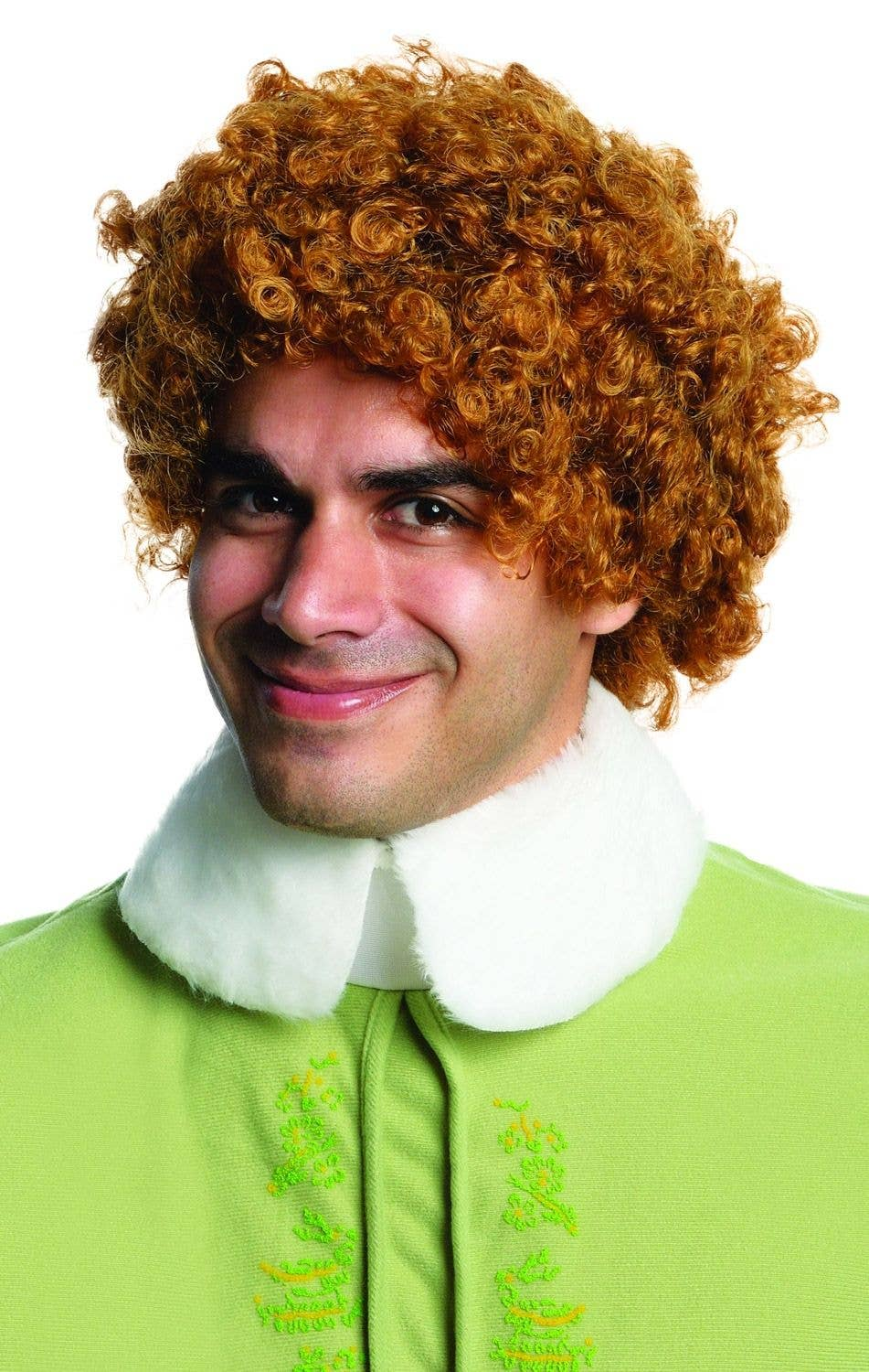 Buddy The Elf Men S Brown Wig Men S Curly Brown Elf Costume Wig