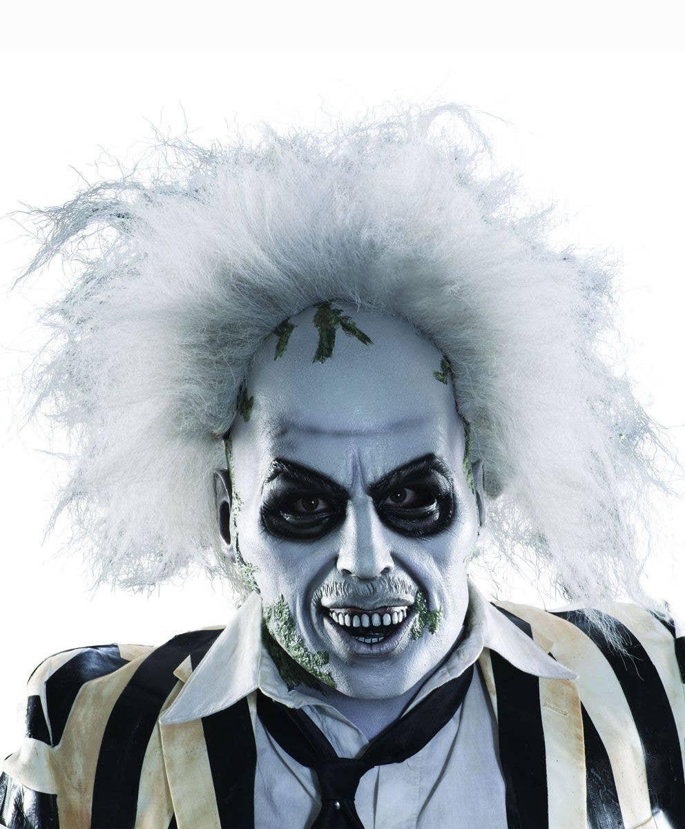 halloween beetlejuice latex mask | men's beetlejuice mask with hair