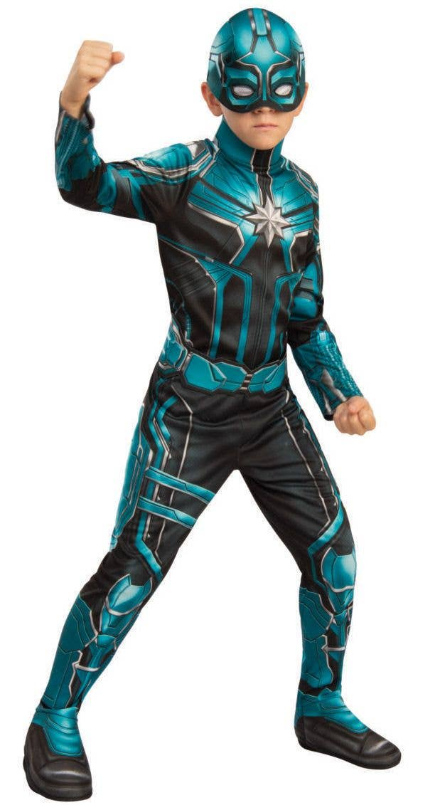 Captain Marvel Starforce Boys Superhero Fancy Dress Costume
