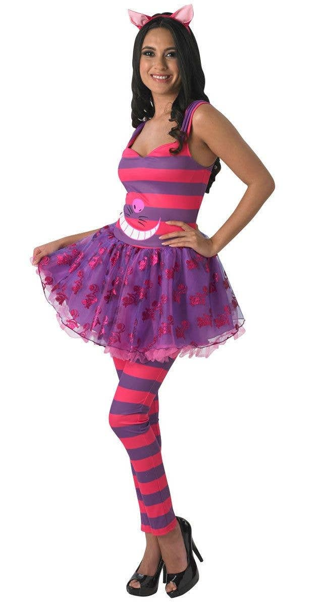 2e8f940033b Women s Pink and Purple Cheshire Cat Fancy Dress Costume