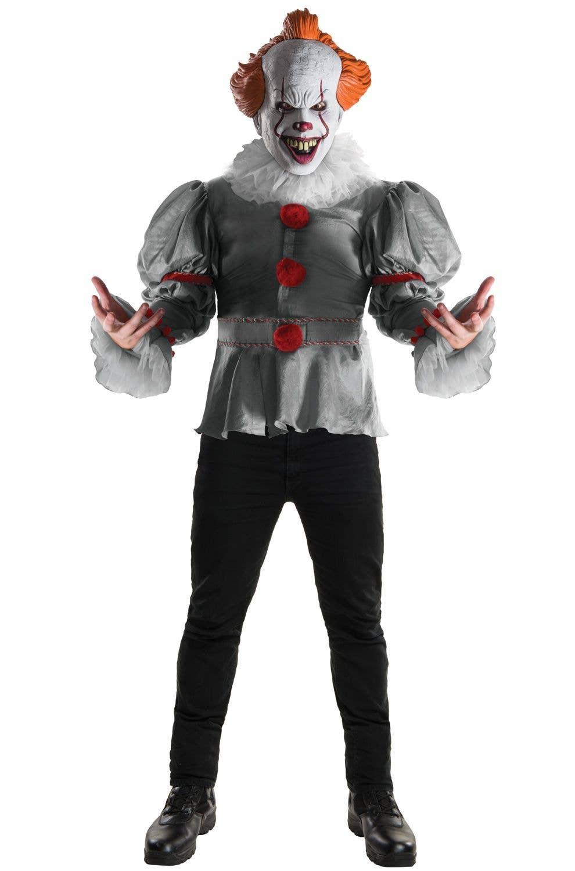 Men S Deluxe Pennywise Halloween Costume Men S It Clown Costume