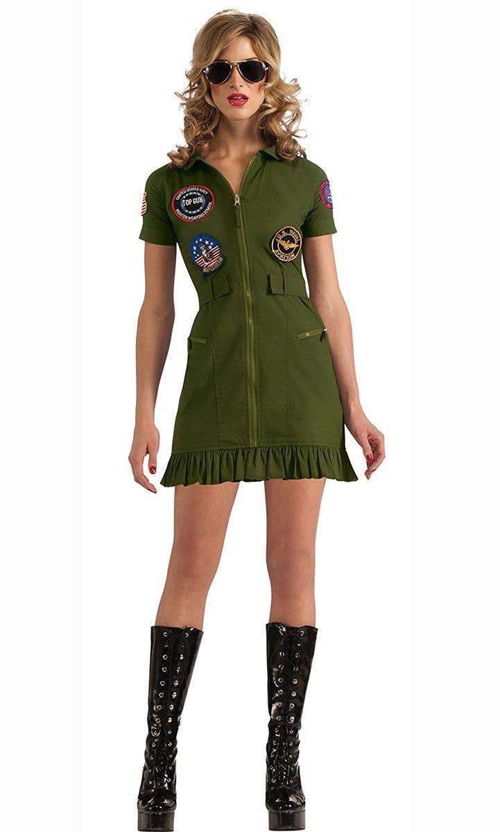 Sexy Top Gun Women s Aviator Flight Suit Costume 5d5dd9432