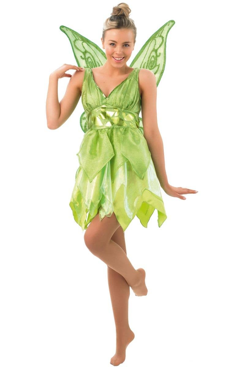 Womenu0027s Sassy Tinkerbell Peter Pan Disney Costume Main Image