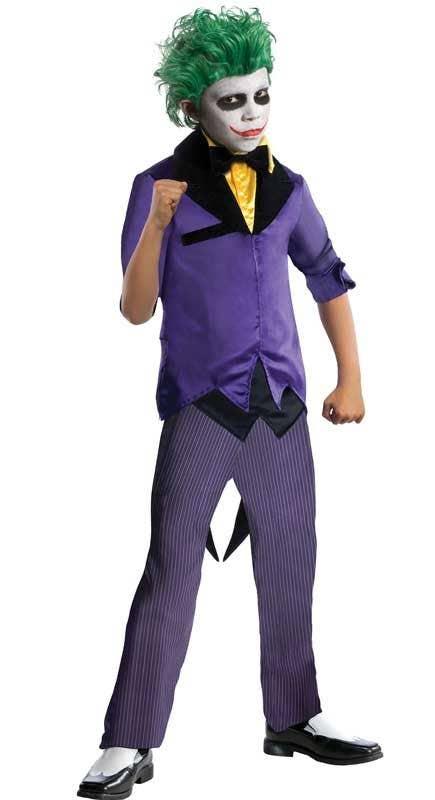 Boyu0027s Gotham Joker Batman Villain Costume Front View  sc 1 st  Heaven Costumes & The Joker Boys Costume | Batmanu0027s The Joker Kids Costume