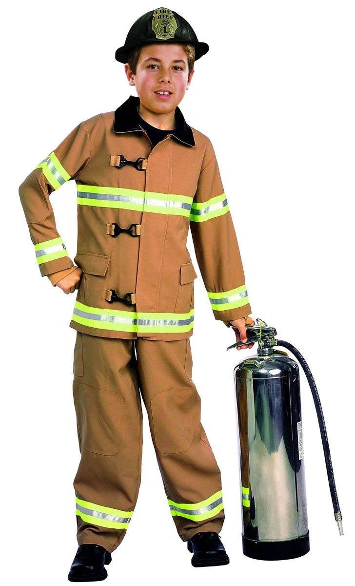 Fireman Boys Book Week Costume | Fire Chief Kids Fancy Dress