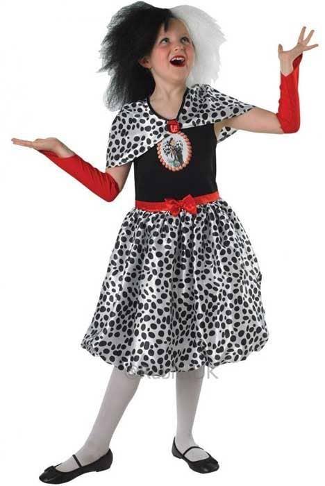 ... Cruella De Vil Girlu0027s 101 Dalmatians Costume Front View  sc 1 st  Heaven Costumes & Cruella De Vil Girls Costume | 101 Dalmatians Disney Kids Costume