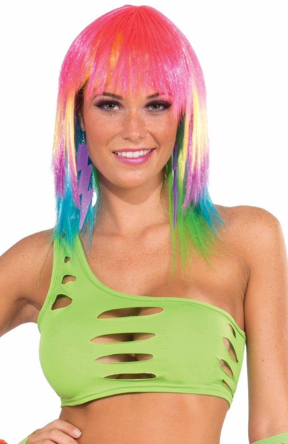 05c69b45386b08 Neon Green Women s Cut Out Bra Top Rave Wear View 1