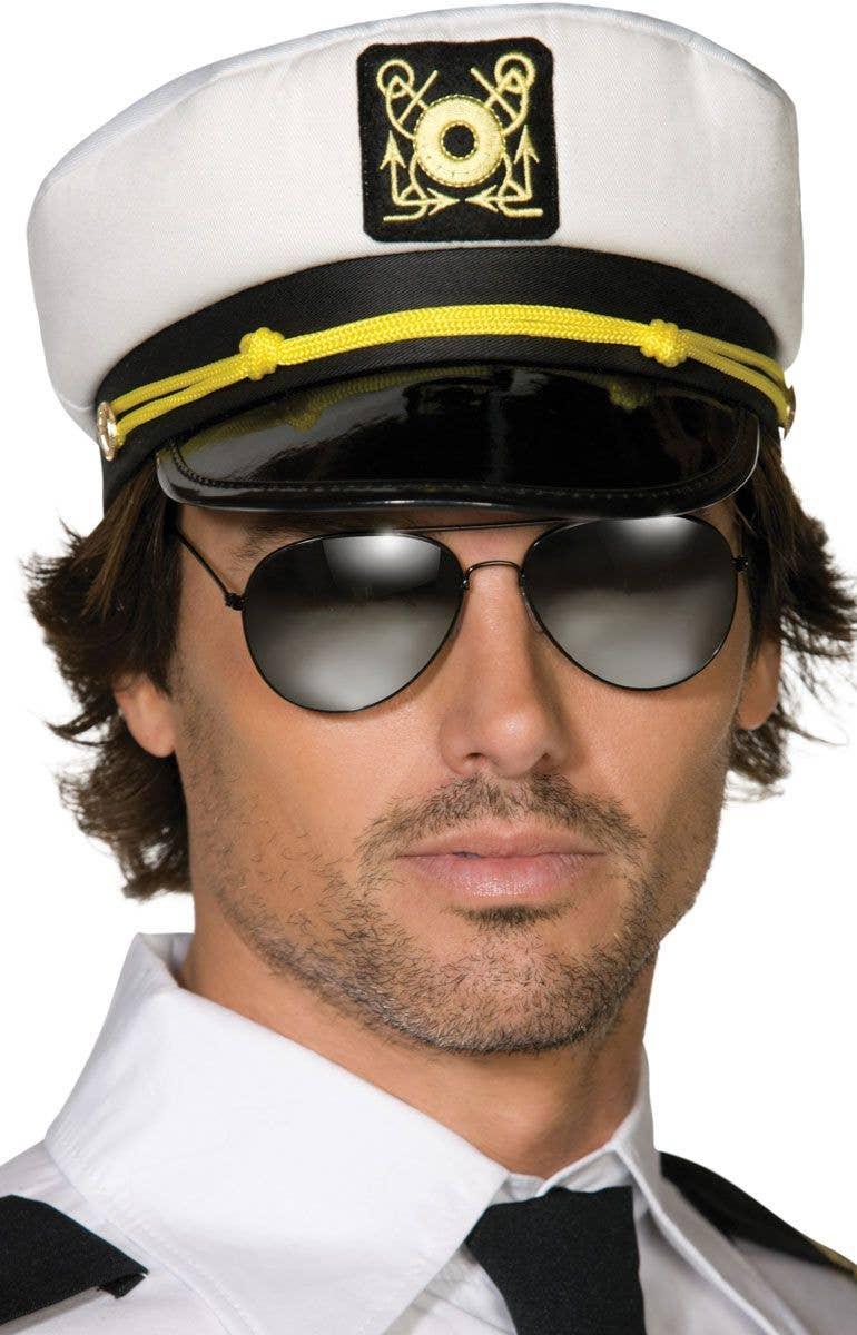 Adults White Sailor Captains Costume Hat 12128dfafd4c