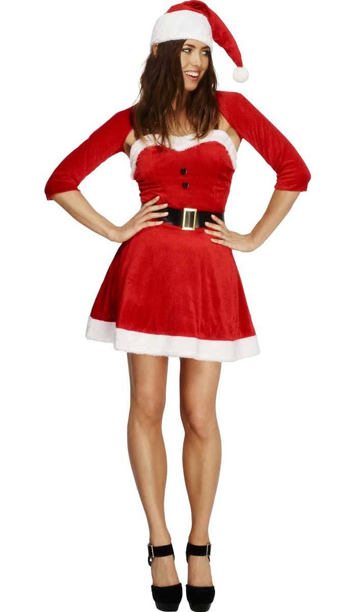 4b9a81f0f9011 Sexy Women s Santa Christmas Costume Front View