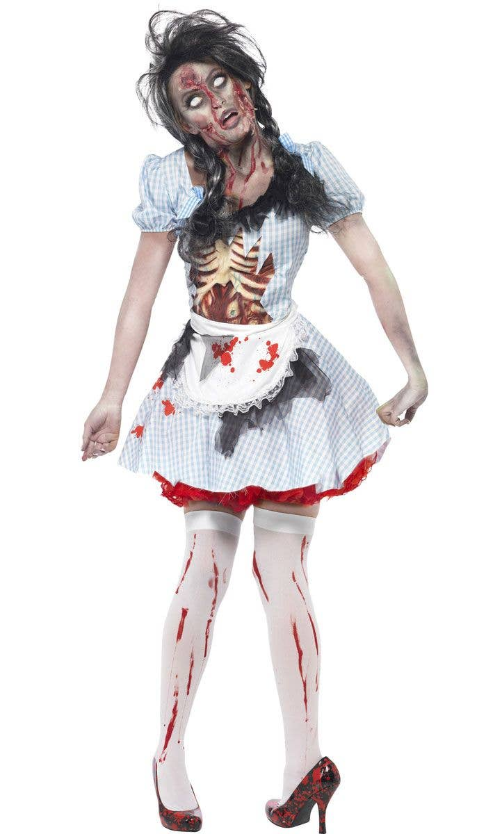 Women\u0027s Creepy Zombie Dorothy Halloween Costume Alternative View