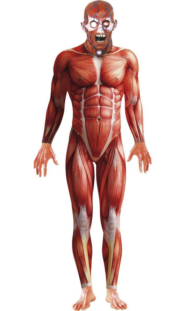 Anatomy Man Halloween Costume Muscle Suit Fancy Dress Costume
