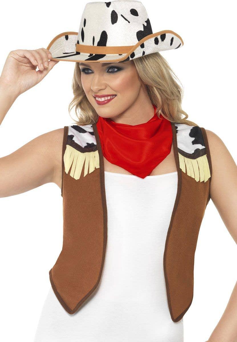 Western cowgirl fancy dress costume accessory kit 2aec2ec26f