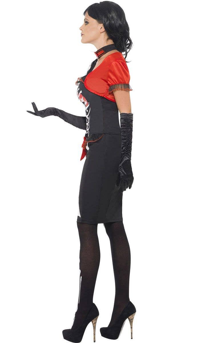 df1437f0ee Sugar Skull Skeleton Women s Costume Side Image