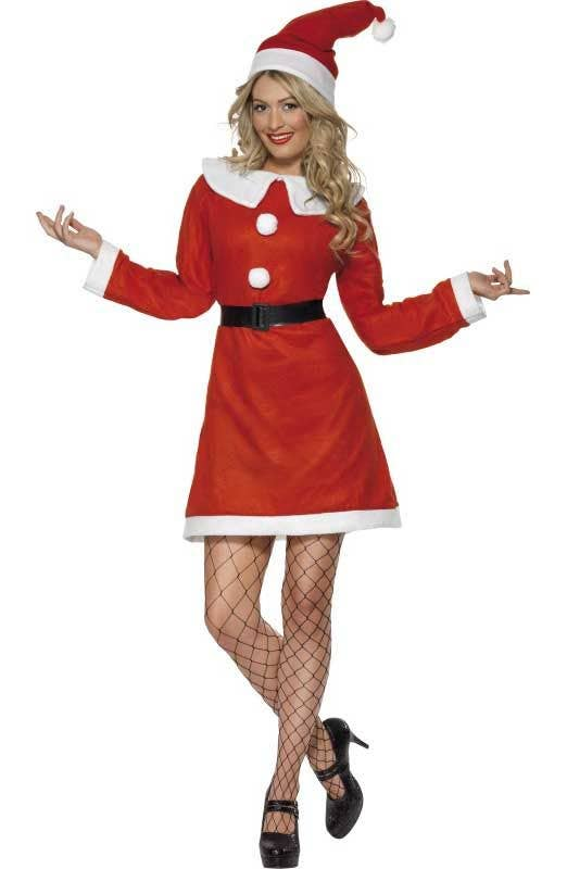 Mrs Santa Claus Tights Ladies Fancy Dress Christmas Xmas Womens Adults Costume
