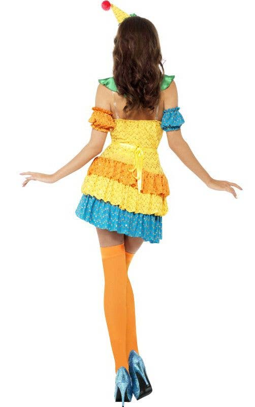 Plus Size Clown Sexy Costume Colourful Clown Womens Costume