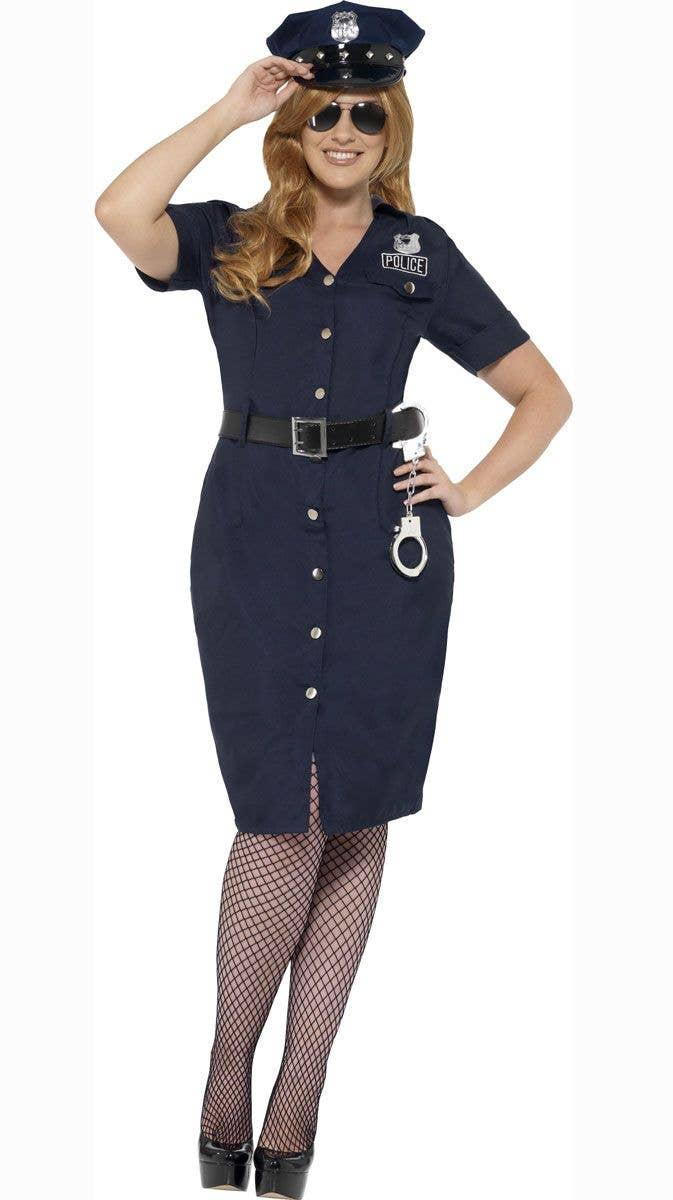54a7da9466b9d Police Officer Plus Size Costume | Women's Plus Size Cop Costume