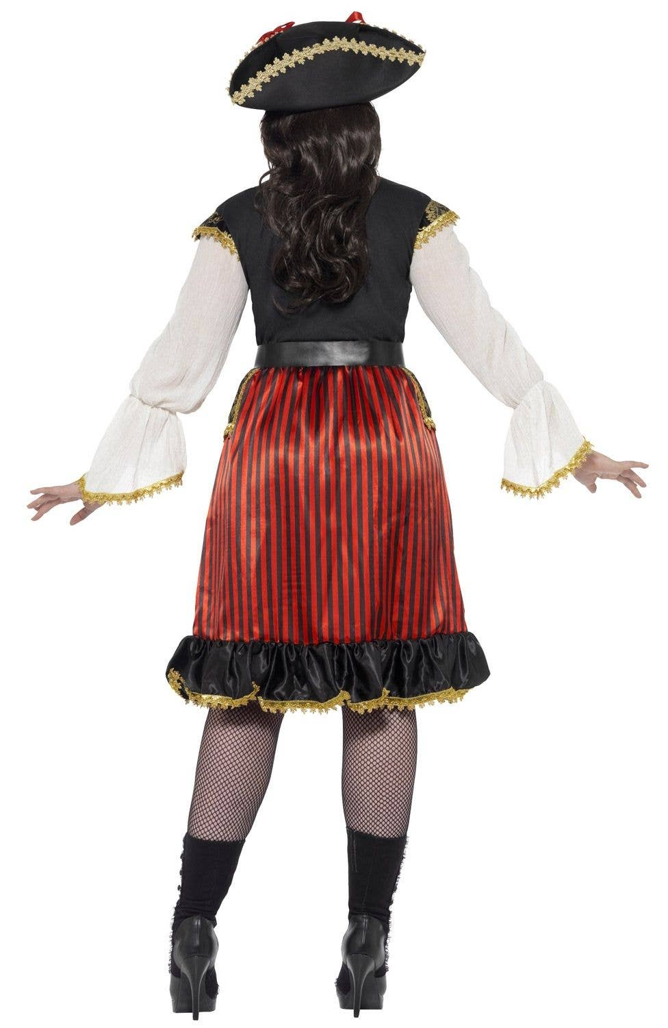8a78a568897 Curves Pirate Lady Women s Plus Size Fancy Dress Costume Back View